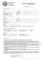 formulaire adhésion – adulte