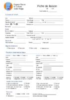 formulaire d'adhésion – enfant